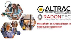 Radonmessung am Arbeitsplatz - kostenfreies Webinar